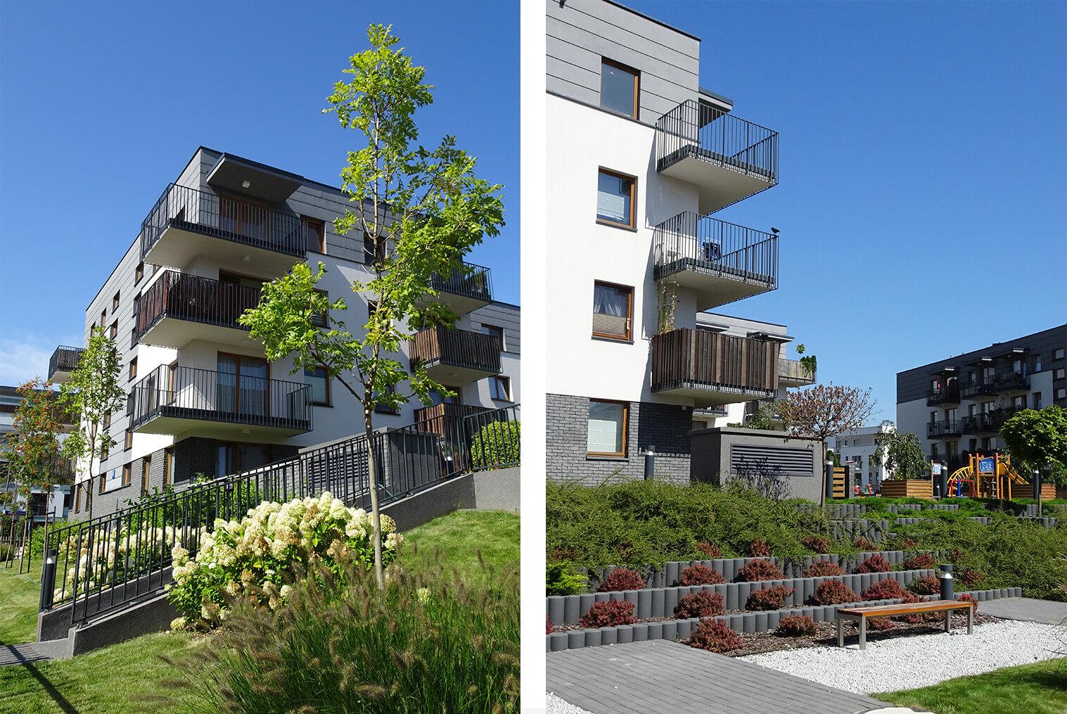 projekt osiedla mieszkaniowego Mokotów Wiślany